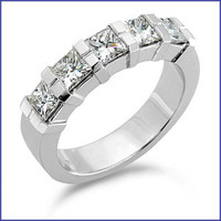 Gregorio 18K White Diamond Wedding Band R-173B