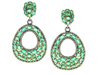Emerald & 2.45 ct Diamond Pear-Shaped Earring
