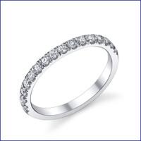 Gregorio 18K WG Diamond Engagement Band R-538B
