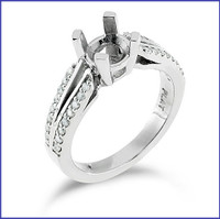 Gregorio 18K White Engagement Diamond Ring R-7087