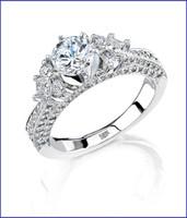 Gregorio 18K White Diamond Engagement Ring R-234