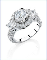 Gregorio 18K White Diamond Engagement Ring MTR-311