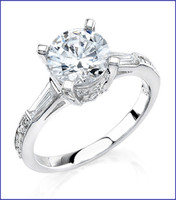 Gregorio 18K White Diamond Engagement Ring MTR-307