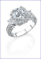 Gregorio 18K White Diamond Engagement Ring MTR-302