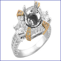 Gregorio 18K White Diamond Engagement Ring MTR-300