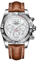 Breitling Chronomat 41 Steel Dia Bezel Croco Strap Deployant AB0140AA/A747