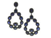 Blue Sapphire & 3.74 ct Diamond Pear-Shaped Earring