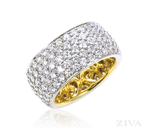 Ziva Wide Pave Diamond Eternity Band