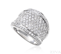 Ziva Wide Pave Diamond Band