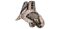 Van Der Bauwede 18K Pink Gold Sapphire & Diamond Snake Ring 00161