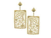 3.34 ct Diamond Mammoth Rectangular Earring