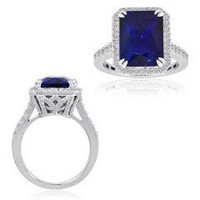 18k WG Tanzanite & Diamond Ring (RD 0.95ct, TZ 8.71ct)