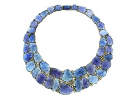 Tanzanite & 12.40 ct Diamond Necklace