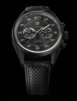 Tag Heuer Carrera Calibre 36 Flyback Chrono Racing 43mm Black Titanium Watch CAR2B80.FC6325