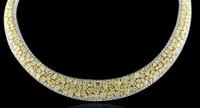 49.24 Carat Fancy Yellow & White Diamond Necklace SEN7080