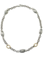 """18Kt/Sterling Silver Two Tone Necklace 18"""""""