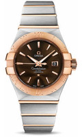 Omega Constellation Co-Axial 31 mm Brushed Steel & Red Gold 123.20.31.20.13.001