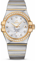 Omega Constellation Co-Axial 35 mm Brushed Steel & Yellow Gold 123.25.35.20.52.002