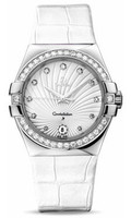 Omega Constellation Co-Axial 35 mm Brushed SS 123.18.35.60.52.001