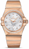 Omega Constellation Co-Axial 35 mm Brushed Red Gold 123.55.35.20.52.001