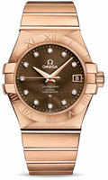 Omega Constellation Co-Axial 35 mm Brushed Red Gold 123.50.35.20.63.001