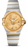 Omega Constellation Co-Axial 31 mm Brushed Steel & Yellow Gold 123.20.31.20.08.001