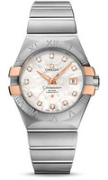 Omega Constellation Co-Axial 31 mm Brushed Steel & Red Gold Claws 123.20.31.20.55.003