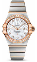Omega Constellation Co-Axial 31 mm Brushed Steel & Red Gold 123.25.31.20.55.001