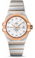 Omega Constellation Co-Axial 31 mm Brushed Steel & Red Gold 123.20.31.20.55.001