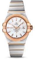 Omega Constellation Co-Axial 31 mm Brushed Steel & Red Gold 123.20.31.20.05.001