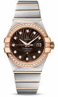 Omega Constellation Co-Axial 31 mm Brushed Steel & Red Gold 123.25.31.20.63.001