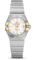 Omega Constellation Co-Axial 27 mm Brushed Steel & Yellow Gold Claws 123.20.27.20.55.005