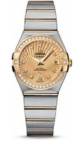 Omega Constellation Co-Axial 27 mm Brushed Steel & Yellow Gold 123.25.27.20.58.001