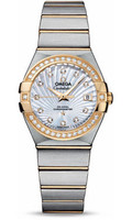 Omega Constellation Co-Axial 27 mm Brushed Steel & Yellow Gold 123.25.27.20.55.002