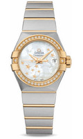 Omega Constellation Co-Axial 27 mm Brushed Steel & Yellow Gold 123.25.27.20.05.001