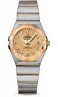 Omega Constellation Co-Axial 27 mm Brushed Steel & Yellow Gold 123.20.27.20.58.001