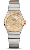 Omega Constellation Co-Axial 27 mm Brushed Steel & Yellow Gold 123.20.27.20.57.002