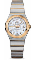 Omega Constellation Co-Axial 27 mm Brushed Steel & Yellow Gold 123.20.27.20.55.003