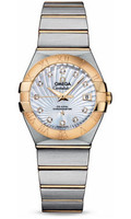 Omega Constellation Co-Axial 27 mm Brushed Steel & Yellow Gold 123.20.27.20.55.002