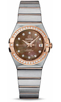 Omega Constellation Co-Axial 27 mm Brushed Steel & Red Gold 123.25.27.20.57.001