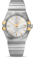 Omega Constellation SS & 18K Yellow Gold Silver Dial Watch 123.20.38.21.02.005