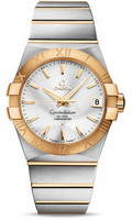 Omega Constellation SS & 18K Yellow Gold Silver Dial Watch 123.20.38.21.02.002