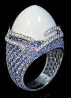 "Mousson Atelier New Age ""Fuji"" Gold Koholong & Sapphire Ring R0053-0/4"