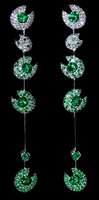 "Mousson Atelier Ladybug ""Bugs"" Gold Tsavorite & Diamond Earrings E0039-0/6"