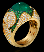 """Mousson Atelier Hi Jewellery Collection """"1000&1 night"""" Gold Emerald & Diamond Ring R0024-0/8"""