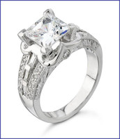 Gregorio Platinum Engagement Diamond Ring H-1055