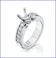 Gregorio Platinum Diamond Engagement Ring R-7257E