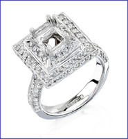 Gregorio Platinum Diamond Engagement Ring R-170