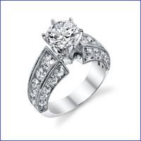 Gregorio 18K WG Diamond Engagement Ring R-3252-3