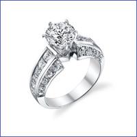 Gregorio 18K WG Diamond Engagement Ring R-3252-1